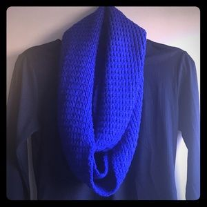 Electric blue infinity scarf